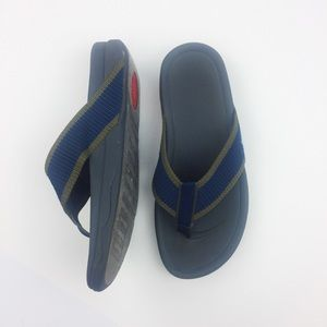 Fitflop Flip Flops Blue and Green Thong (size 9)